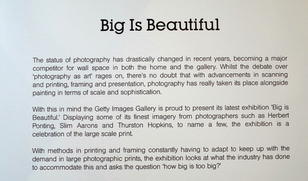Big Is Beautiful, Getty Gallery photo exhibition, Oxford Circus, London, 21st March - 11th April 2015