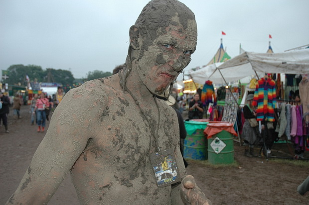 Mud, mud, glorious mud! Glastonbury Festival in photos, June 2005