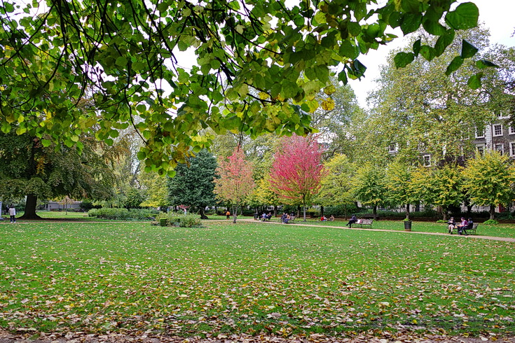 In photos: Gordon Square park, Bloomsbury, central London