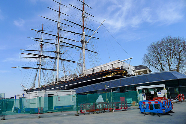 Greenwich and the Cutty Sark in the Spring sunshine, April 2012