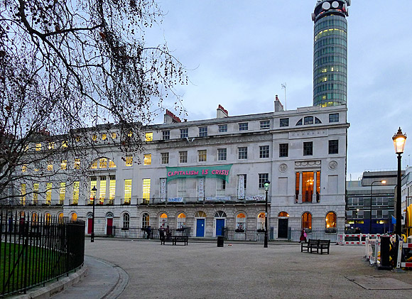 Squatters take over £6m Fitzroy Square mansion