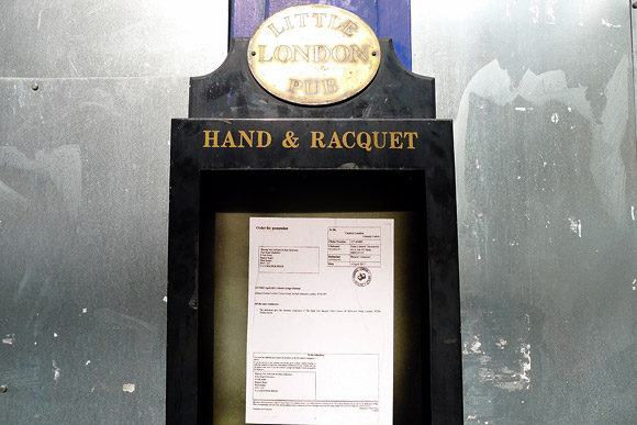 Really Free School at the Hand and Racquet, 48 Whitcomb Street, London, WC2H 7HA evicted
