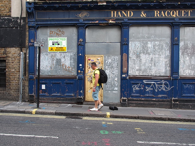 The Hand and Racquet pub in London disgracefully rots away, three years after the Free School was evicted.  Photos from July 2014