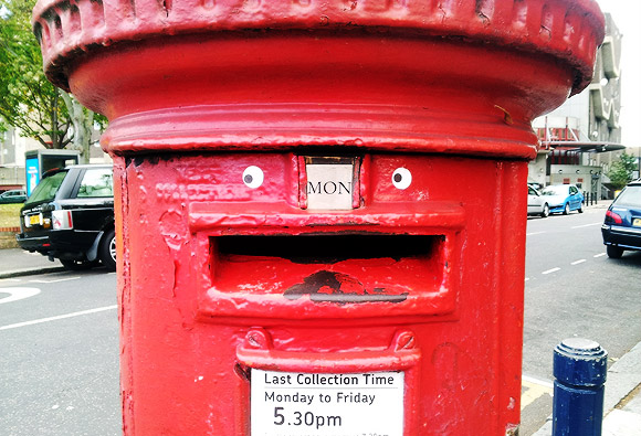 Say hello to Brixton's happy postbox