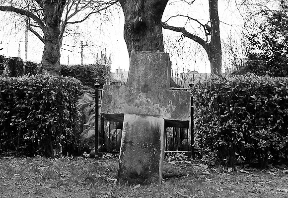 Gravestones in a tree - the Hardy Tree, St Pancras Churchyard