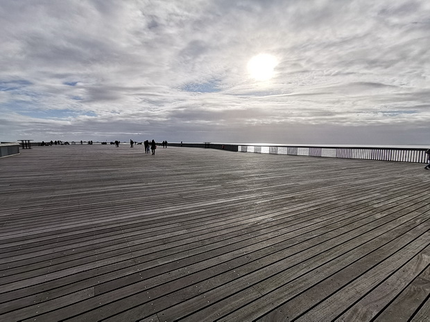 In photos: the windswept open decking of Hastings Pier, Nov 2019