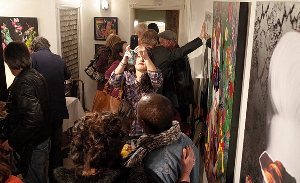 Hysteria and Disaster art show at Maison Bertaux, Soho, London, 12th March 2014