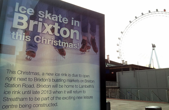 'Ice Skate in Brixton this Christmas' predicts Lambeth Council