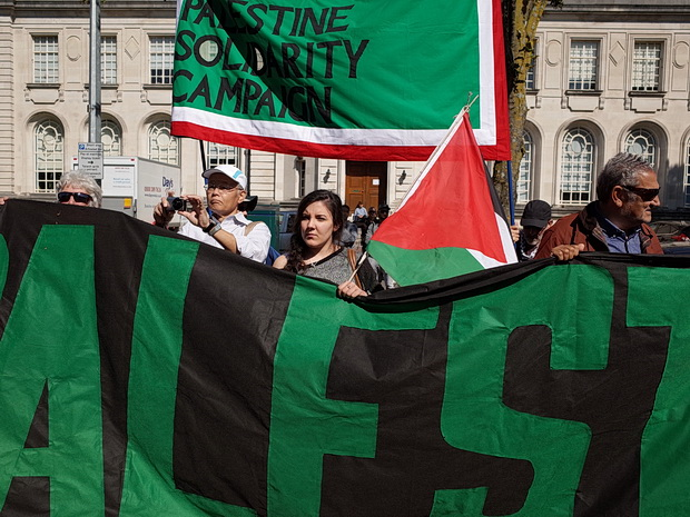Cardiff protest against Israel playing Wales in the UEFA qualifier - photos, Cardiff, Sunday 6th September 2015