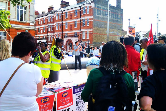 J30 strike: joint rally at Windrush Square, Brixton