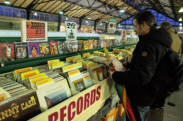 A celebration of Kellys Records in Cardiff Central Market, south Wales