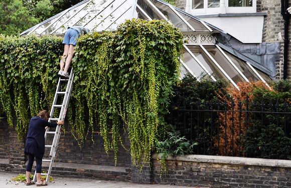 An intriguing street scene by Kew Gardens