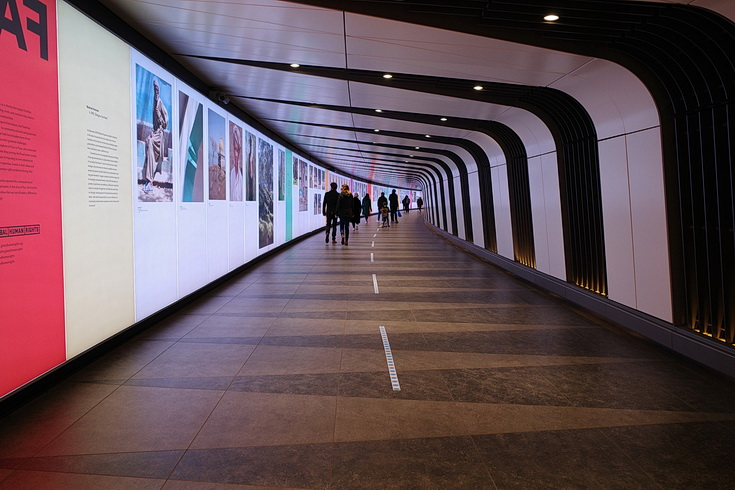 Check out the Face To Face exhibition, King's Cross Tunnel, London, running until Nov 2020