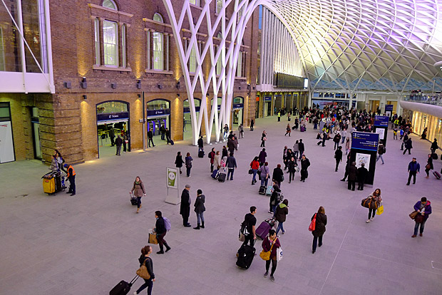 Photos of the new King's Cross concourse, designed by John McAslan and Partners, London. March 2012