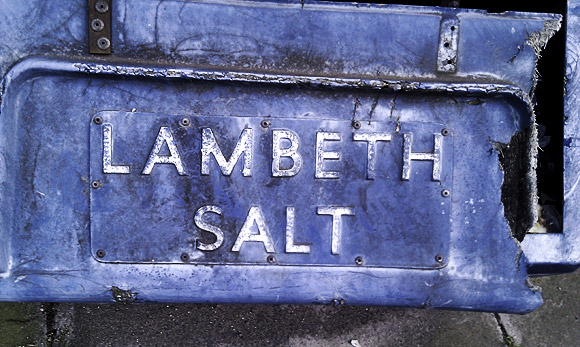 Pic of the day: Lambeth Salt