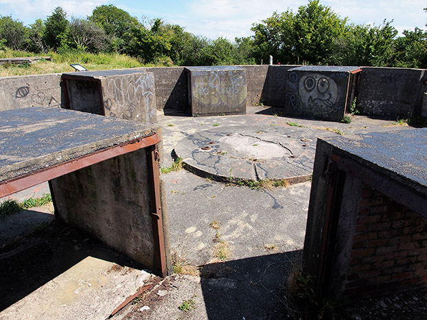 Remains of Lavernock Fort gun emplacement, south Wales - photo feature