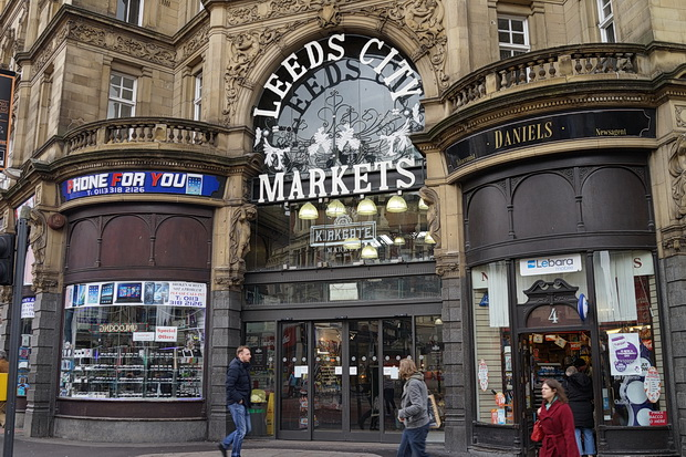 A day and night in Leeds: street scenes, architecture, arcades and drinking, March 2018