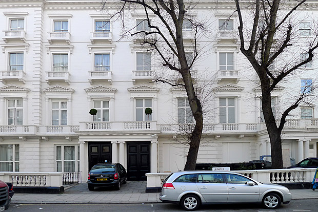 The fake houses at 23 and 24 Leinster Gardens, Bayswater, London W2, March 2012