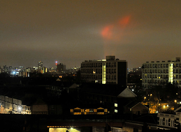 Strange lights over London, 2.30am