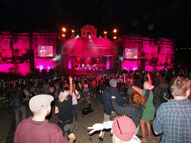 The majesty of the Lion's Den reggae stage at Boomtown Fair, Winchester, England, August 2015