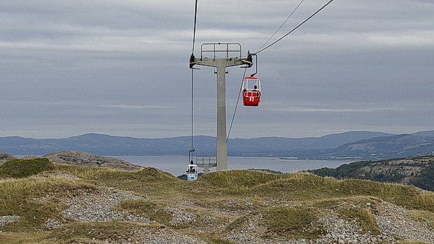 In photos: a trip on Llandudno's wonderful cable car, August 2018
