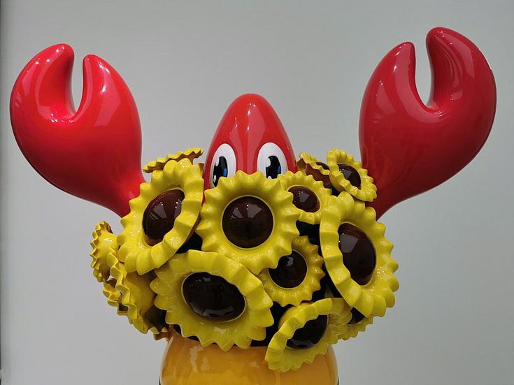Philip Colbert's Lobsteropolis at the Saachi: Cartoon lobster hyper-pop sculptures and paintings