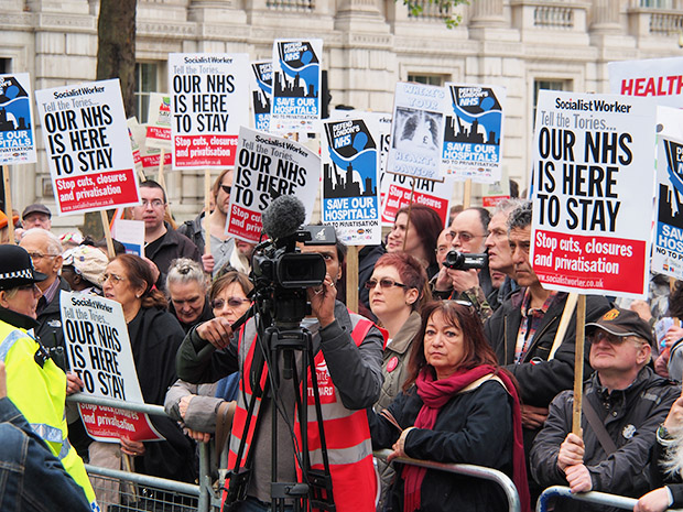 Sat 18th May: Defend London's NHS demonstration, march from Waterloo to Whitehall, London