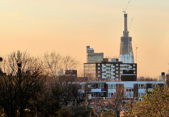 London's changing skyline, seen from South Bermondsey