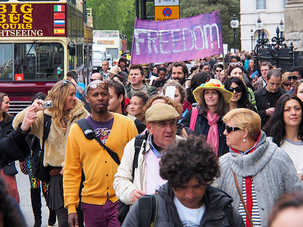 Photos from the March Against Monsanto protest, Parliament Square, London, Saturday 25th May