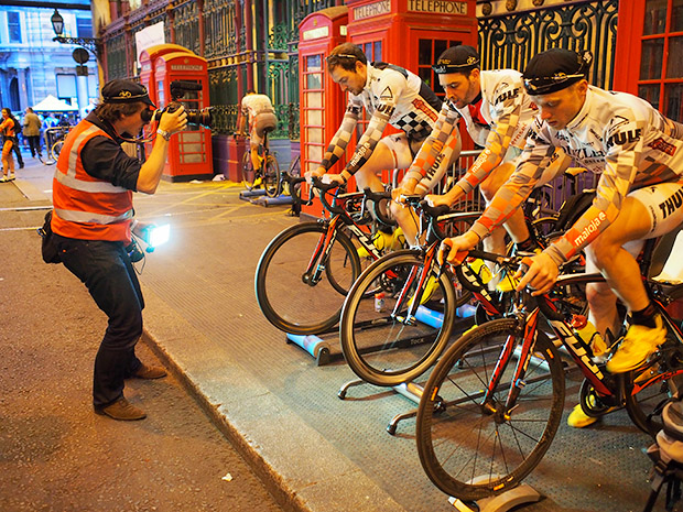 Sat 8th June 2013, London Nocturne with Penny Farthing races, folding bike dashes and pro cycling races