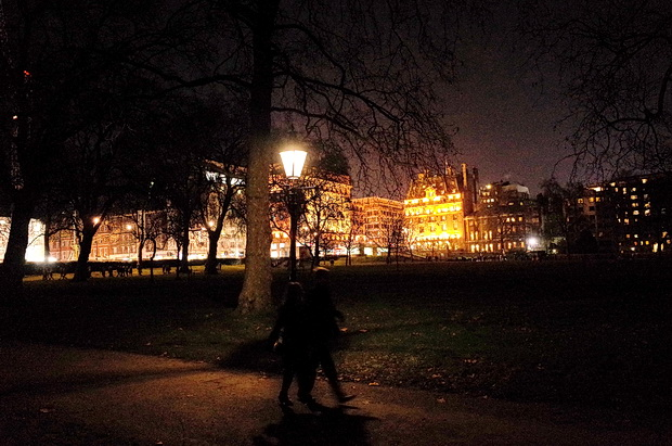 London photos - River Thames, Christmas lights, parks and Old Bond Street, December 2014
