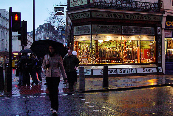 London rain: five photos