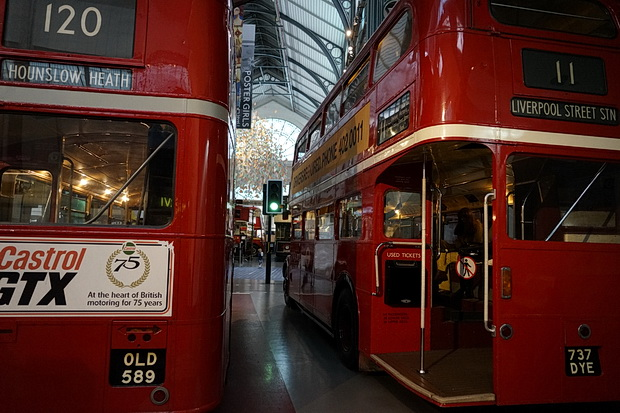 Trams, trains, tubes, trolleybuses and buses at the London Transport Museum - photos