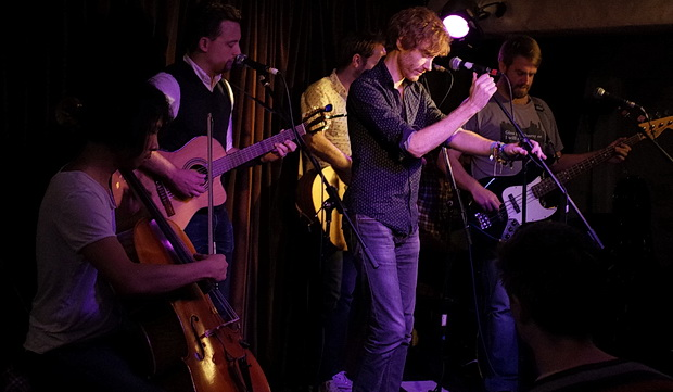 The Lost Cavalry showcase new material at intimate gig at the The Harrison folk night, London, August 2015