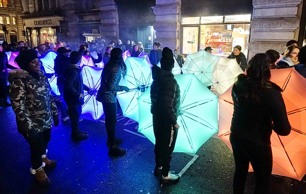 In photos: Lumiere festival 2018 - lights and interactive installations around central London, January 2018