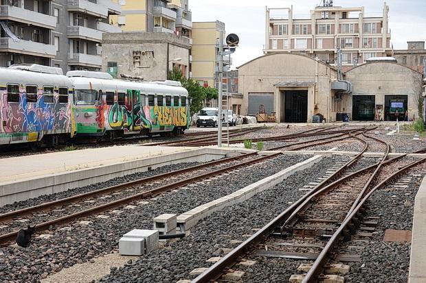 Macomer, Sardinia: steam loco, narrow gauge railway and abandoned warehouses - in photos