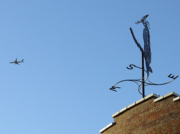 The Brixton Heron Weathervane, Coldharbour Lane/Brixton Road