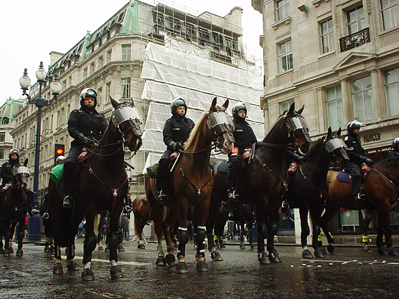 Mayday 2001 protests, London: archive photos