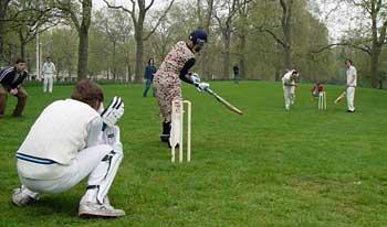 Cricket at Mayday, St James Park, London
