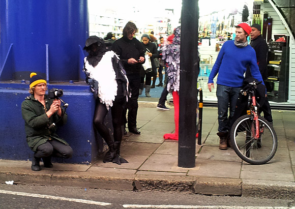 A murder of crows on Atlantic Road, Brixton