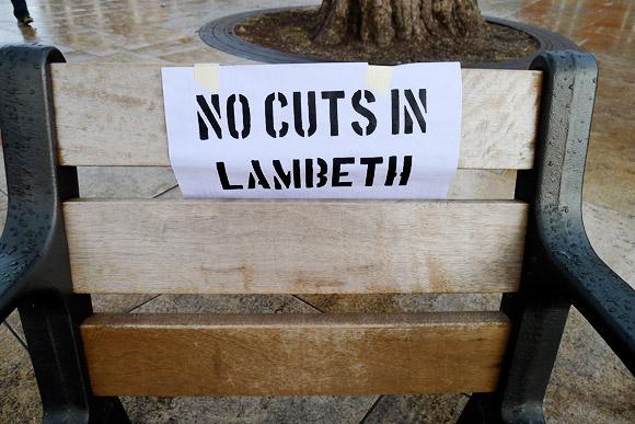 Strike day in Lambeth - Brixton Windrush Square scenes