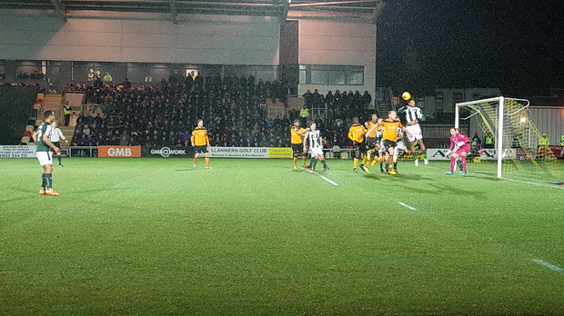 Newport County sweep aside Plymouth Argyle on a dark and miserable Boxing Day afternoon,  Rodney Parade, Newport, Wales, 26th December 2014