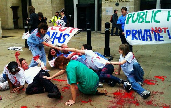 NHS Direct Action at Charing Cross - photos