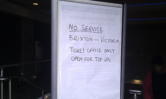Tube strike: no Brixton tube today (7/09/10)