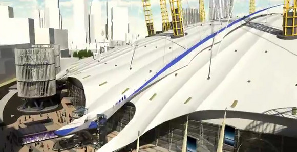 Take a virtual Skywalk strut across the o2 Millennium Dome's roof