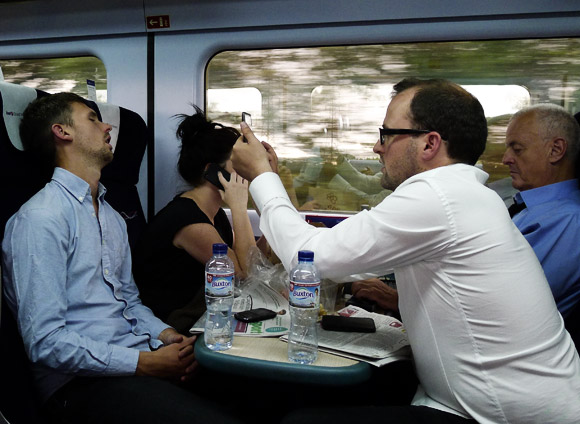 Pic of the day: office worker snaps sleeping colleague on Paddington-bound train