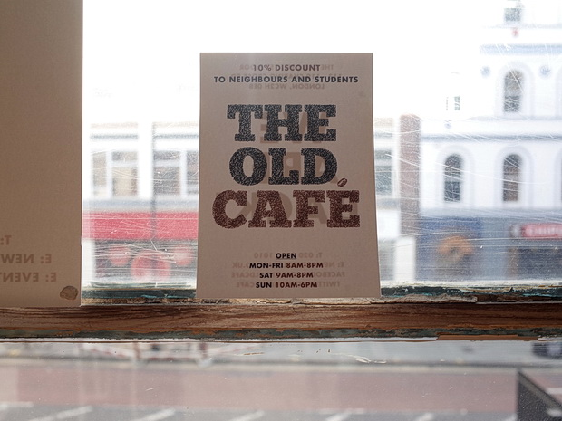 The Old cafe in the formers Foyles building in Charing Cross Road, London, set to be booted out this Monday, 4th May