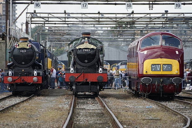 Steam and diesel loco delights at Old Oak Common Open Day, Saturday 2nd September 2017