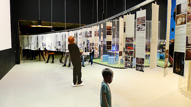 OMA Progress architecture exhibition at the London Barbican