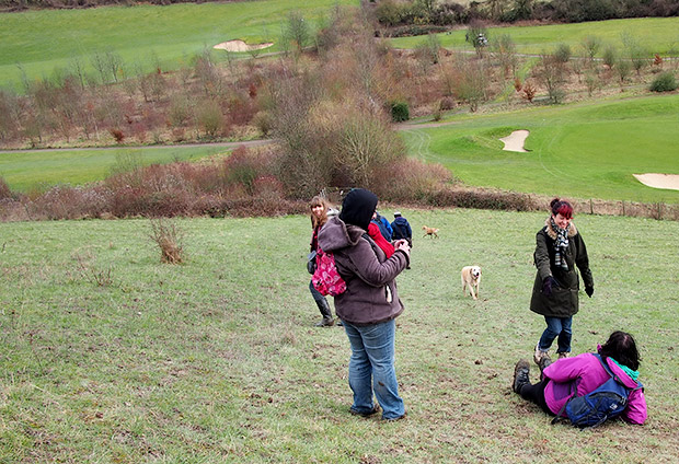 Otford and Shoreham circular walk through the Kent countryside, England
